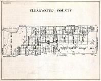 Clearwater County, Red Lake Indian Reservation, Eddy, Windsor, Greenwood, Sinclair, Minnesota State Atlas 1930c