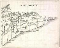 Cook County, Grand Marais, Maple Hill, Hovland, Schroeder, Tofte, Minnesota State Atlas 1930c
