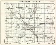 Freeborn County, Hartland, Bath, Geneva, Newry, Moscow, Alden, Pickerel Lake, Minnesota State Atlas 1930c