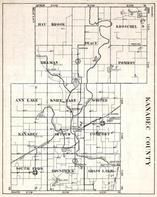Kanabec County, South Fork, Brunswick, Grass Lake, Arthur, Comfort, Peace, Pomroy, Minnesota State Atlas 1930c