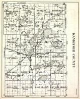 Kandiyohi County, Holland, roseland, Lake Lillian, Edwards, Whitefield, Fahlun, St. Johns, Minnesota State Atlas 1930c