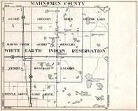 Mahnomen County, Gregory, Heier, Island Lake, White Earth Indian Reservation, Minnesota State Atlas 1930c
