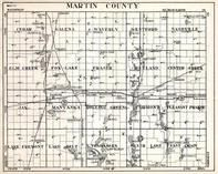 Martin County, Cedar, Galena, Waverly, Westford, Nashville, Elm Creek, Minnesota State Atlas 1930c