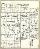 Meeker County, Union Grove, Manannah, Forest Prairie, Swede Grove, Harvey, Forest City, Minnesota State Atlas 1930c