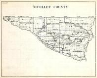 Nicollet County, Ridgley, West Newton, Bernadotte, New Sweden, Lake Prairie, Traverse, Minnesota State Atlas 1930c
