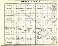 Nobles County, Leota, Willmont, Bloom, Seward, Graham Lake, Lismore, Larkin, Elk, Minnesota State Atlas 1930c