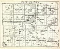 Pope County, Nora, Ben Wade, Reno, Leven, Westport, New Prairie, White Bear Lake, Minnesota State Atlas 1930c
