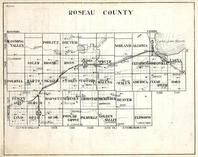 Roseau County, Blooming Valley, Dieter, Norland, Algoma, Soler, Moose, ross, Jadis, Spruce, Eldwood, Minnesota State Atlas 1930c