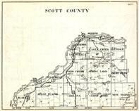 Scott County, Glakely, Belle Plaine, Helena, Cedar Lake, New Market, St. Lawrence, Minnesota State Atlas 1930c