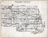 Stearns County, Ashley, Melrose, Millwood, Krain, Brockway, Raymond, Crow Lake, Zion, Minnesota State Atlas 1930c