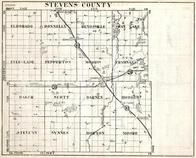 Stevens County, Eldorado, Donnelly, Rendsville, Swan Lake, Everglade, Pepperton, Minnesota State Atlas 1930c