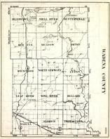 Wadena County, Blueberry, Shell River, Huntersville, Red Eye, Meadow, Orton, Rockwood, Minnesota State Atlas 1930c