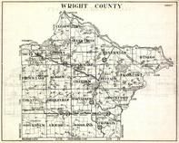 Wright County, Clearwater, Sliver Creek, Monticello, Otsego, French Lake, Albion, chatham, Buffalo, Minnesota State Atlas 1930c