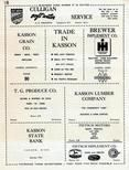 H.R. Kirkwood, Kasson Grain, Brewer Implement, T.G. Produce, Peitsch Motors