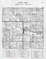 Leaf Lake Township, Portage Lake, Grass Lake, Gourd Lake, Willow Creek, Otter Tail County 1946