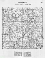 Maplewood Township, Lake Lida, Leeper, Long, Eddy, Bracket, Crystal, Anderson, Beers, Bass, Flatmark Lake, Otter Tail County 1946