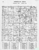 Norwegian Grove Township, Olaf Lake, Jacobs, Kalness, Grena, Alfred, Grove, Gaards, Sanda Lake, Otter Tail County 1946
