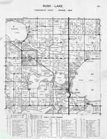 Rush Lake Township, Rushville, Buchanan Lake, Marion, Round, Rice, Head, Jeff, Long, Boedigheimer Lake, Otter Tail County 1946