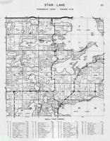 Star Lake Township, Mud Lake, Duck, Long, Round, Moore, Elysium Park, Otter Tail County 1946