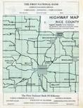 Rice County Highway Map, Rice County 1958