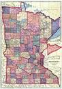 Minnesota State Map, Sibley County 1914 Published by Webb Publishing Company