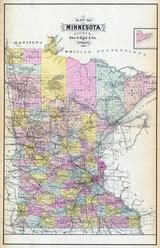Minnesota State Map, Waseca County 1896