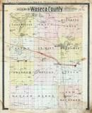 Waseca County Outline Map, Waseca County 1896