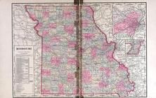 Missouri State Map, Andrew County 1909