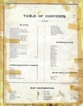 Table of Contents, Caldwell County 1876