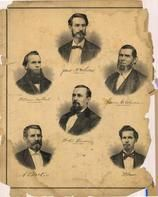 James M. McLellan, William Colburt,  A. V. McKee, William A. Woodson, James E. Elmore, W. E. Brown
