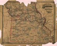 Missouri Railroad Map, Lincoln County 1878