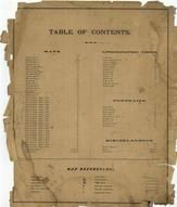 Table of Contents, Lincoln County 1878