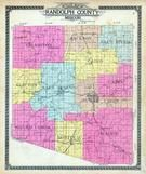 Randolph County Outline Map, Randolph County 1910