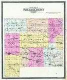 Shelby County Outline Map, Shelby County 1902