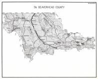 Beaverhead County - South, Lakeview, Brenner, Rocky Mountains, Medicine Lodge, Grayling, Armstead, Red Rock, Montana State Atlas 1950c