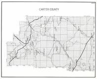 Carter County, Hammond, boyes, Piniele, Batzel, ridgway, Custer national Forest, Elgin, Belltower, Chalk Buttes, Kalaka, Montana State Atlas 1950c