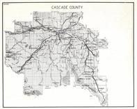 Cascade County, Lewis and Clark National Forest, Adel, Hardy, Cascade, Great Falls, Black Eagle, Salem, Wayne, Riceville, Montana State Atlas 1950c