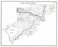 Deer Lodge County, Continental Divide, Fishtrap, Willow Creek, Anaconda, Warm Springs, Montana State Atlas 1950c