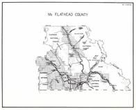 Flathead County - North, Continental Divide, Lake McDonald, Grizzly, Whitefish, Radnor, Olney, Montana State Atlas 1950c