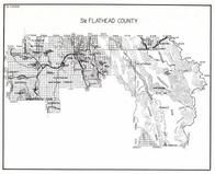 Flathead County - South, Continental Divide, Cabinet, Somers, Nimrod, Singleshot, Blacktail, Creston, Montana State Atlas 1950c
