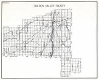Golden Valley County, Belmont, Painted Robe, Vebar, Wallum, O'Brien, Rothiemay, Sahara, Clara, Emory, Montana State Atlas 1950c