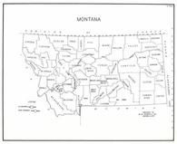 Index Map, Montana State Atlas 1950c