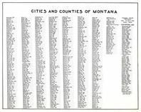 Index to Cities and Counties of Montana, Montana State Atlas 1950c