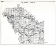 Meagher County, Lewis and Clark National Park, Martinsdale, Groveland, Lebo, Calkins, Moyne, Fillogan, Findon, Montana State Atlas 1950c