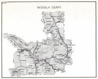 Missouola County, Lolo National Forest, Woodworth, Clearwater, Greenough, Potomac, Sunset, Twin Creek, Turah, Mill Town, Montana State Atlas 1950c