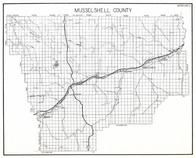 Musselshell County, Klein, Bundy, Elso, Lake Mason, Delphi, Gage, Roundup, Melstone, Montana State Atlas 1950c