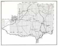 Phillips County - South, Fort Peck Game Range, Telegraph Creek, Fourchette, Ceekay, Regina, First Creek, Content, Midale, Montana State Atlas 1950c