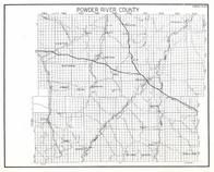 Powder River County, Custer National Forest, Sonnette, Broadus, Graham, Bay Horse, Sayle, Otter, Moorhead, Biddle, Montana State Atlas 1950c
