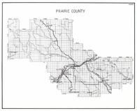 Prairie County, Calypso, Terry, Mildred, Fallon, Cabin Creek, Barrial, Sutherland, Hazel, Olanda, Crow Rock, Montana State Atlas 1950c