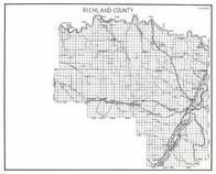 Richland County, Burns, Savage, Hoffmanville, Epworth, Gettysburg, Manrock, Lake, Enid, Elmdale, Andes, Girard, Fairview, Montana State Atlas 1950c
